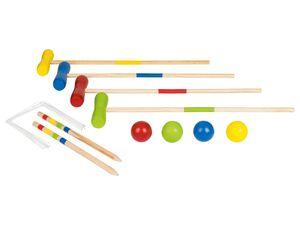 PLAYTIVE® Kinder Krocket, mit 10 Toren und 4 Schlägern