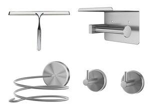 MIOMARE® Halterungen fürs Badezimmer, aus Edelstahl