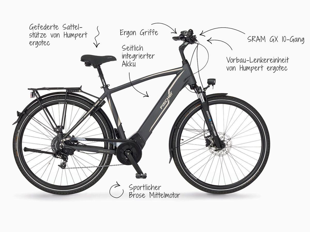 Bild 5 von FISCHER E-Bike »VIATOR 5.0i«, Trekkingrad, Herren, 28 Zoll