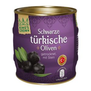 KING'S CROWN Schwarze türkische Oliven