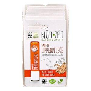 BLÜTE-ZEIT Lippenpflegestift  BIO-Sanddornfruchtfleischöl 4,5 g, 6er Pack