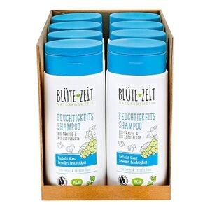 BLÜTE-ZEIT Feuchtigkeits Shampoo Bio-Traube & Bio-Lotusblüte 200 ml, 8er Pack