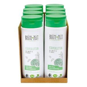 BLÜTE-ZEIT Körperlotion Bio-Limette & Bio-Minze 250 ml, 8er Pack
