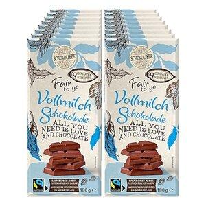 Schokoliebe FairtoGo Vollmilch Schokolade 180 g, 16er Pack