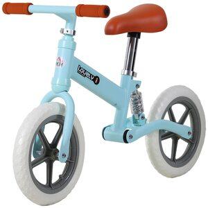 Homcom Kinder Laufrad mit Stoßdämpfer, Blau