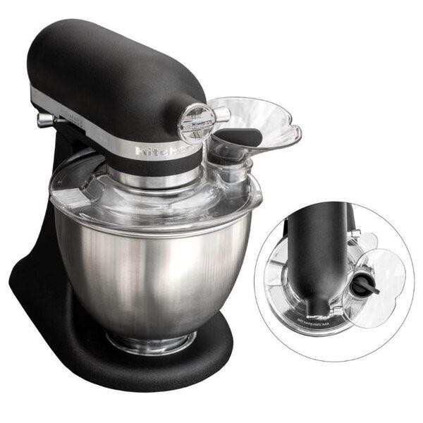 """KitchenAid Mini Limited Edition Gusseisen Schwarz 3,3 L Küchenmaschine """"Black Beauty"""" inkl. KittyProfessional Profispritzschutz für die Mini"""