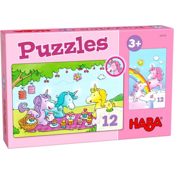 HABA 306164 Puzzles Einhorn Glitzerglück