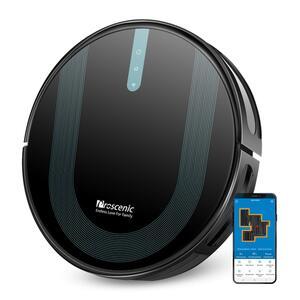 Proscenic 850P WLAN 3-in-1 Saugroboter mit Wischfunktion Staubsauger Roboter Saug-Wisch-Roboter Wischroboter Kombi-Gerät 3,000Pa 2600mAh Alexa Google Home APP