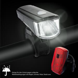 Licorne Bike Fahrrad Batterieleuchtenset StVZO Beleuchtungsset Fahrradbeleuchtung Vorderlampe Hinterlampe LED Fahrradlicht inklusive Batterien.