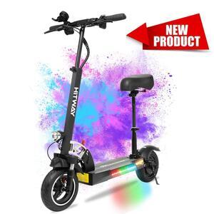 HITWAY Elektroscooter  mit Sitz (800W, 43km / h, max. 40 km, faltbarer Elektroroller mit LCD-Display 10A Li-Ionen-Akku), E-Roller,E-Scooter für Jugendliche und Erwachsene