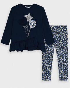 Set Langarmshirt + Leggings  dunkelblau Gr. 74 Mädchen Kinder