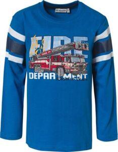 Langarmshirt , Fahrzeuge blau Gr. 92/98 Jungen Kleinkinder