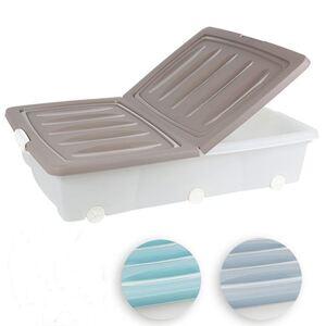 Rollenbox mit Klappdeckel 55L Pastell