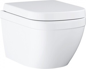 Grohe Wand-Tiefspül-WC Euro Keramik spülrandlos, inkl. abnehmbarem WC-Sitz