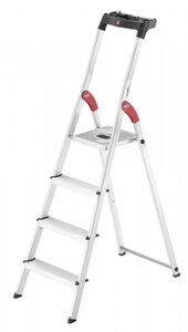 Hailo Haushaltsleiter L60 Standardline 4 Stufen, Arbeitshöhe max. 2,85 m