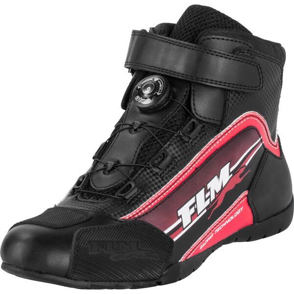 FLM Sports Schuh 1.2 Motorradstiefel rot Herren Größe 35