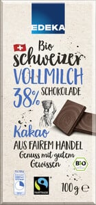 EDEKA Bio Schweizer Milchschokolade Fairtrade 100G