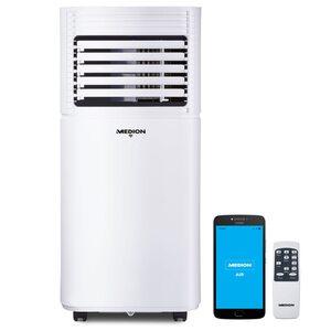 MEDION Smarte mobile Klimaanlage MD 37215, Kühlen, Entfeuchten und Ventilieren, Kühlleistung 7.000 BTU, Kühlmittel R290, max. 25m², App- und Sprachsteuerung