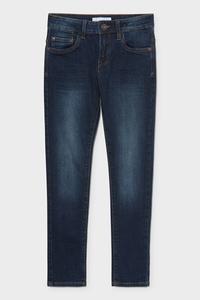 C&A Skinny Jeans-Bio-Baumwolle, Blau, Größe: 176