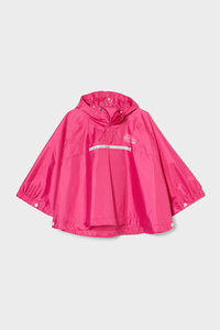C&A Regenponcho mit Kapuze-faltbar, Pink, Größe: 92