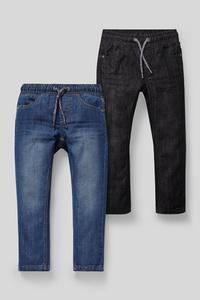 C&A Straight Jeans-2er Pack, Blau, Größe: 98