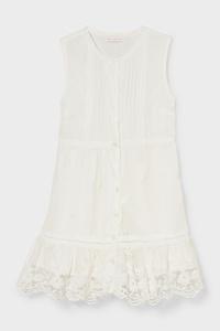 C&A Kleid, Weiß, Größe: 104