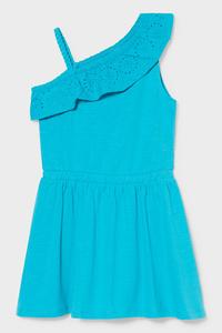C&A Kleid-Bio-Baumwolle, Blau, Größe: 92