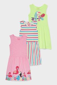 C&A Multipack 3er-Kleid, Rosa, Größe: 92