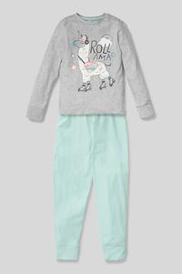 C&A Pyjama-Bio-Baumwolle-2 teilig, Grau, Größe: 140