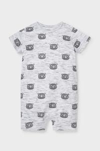 C&A Baby-Schlafanzug-Bio-Baumwolle, Grau, Größe: 62