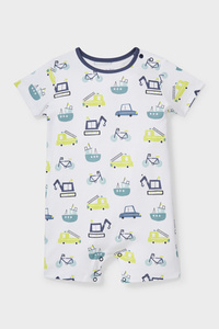 C&A Baby-Schlafanzug-Bio-Baumwolle, Weiß, Größe: 62