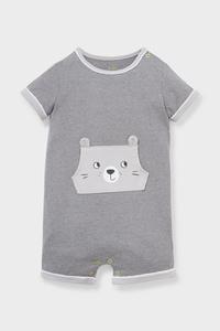 C&A Baby-Pyjama-Bio-Baumwolle-gestreift, Grau, Größe: 62
