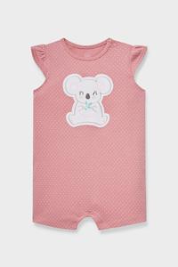 C&A Baby-Schlafanzug-Bio-Baumwolle-gepunktet, Pink, Größe: 62