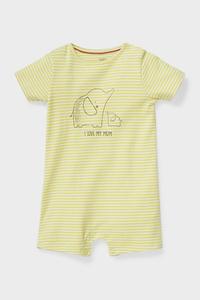 C&A Baby-Schlafanzug-Bio-Baumwolle-gestreift, Gelb, Größe: 62
