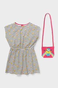 C&A Minions-Set-Kleid und Tasche-Bio-Baumwolle, Schwarz, Größe: 98