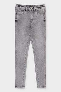C&A Super Skinny Jeans, Grau, Größe: 140