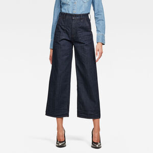 Eyevi High Wide Leg Ankle Jeans