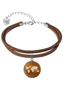 float Bracelet Vegan Lthr World - Armband für Damen - Braun