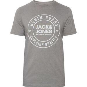 Jack & Jones T-Shirt, Logo-Print, Rundhals, für Herren