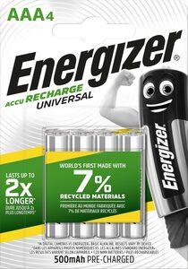 Energizer »NiMH Universal, Micro (AAA), 500 mAh, vorgeladen 4 Stück« Akku Micro AAA (4 St)