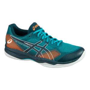 Badmintonschuhe Gel-Court Hunter 2 Squash & Indoorsportarten Herren blau/orange