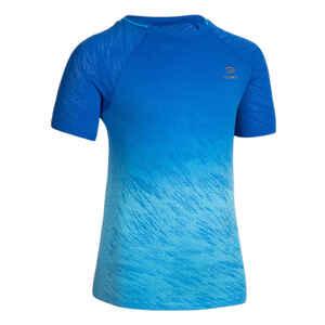 Laufshirt kurzarm AT 500 Leichtathletik Kinder Blautöne