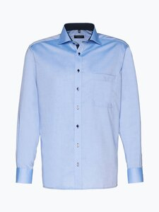 Eterna Comfort Fit Herren Hemd Bügelfrei blau Gr. 40