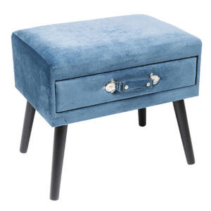 Kare-Design Hocker blau schwarz  Drawer Blau