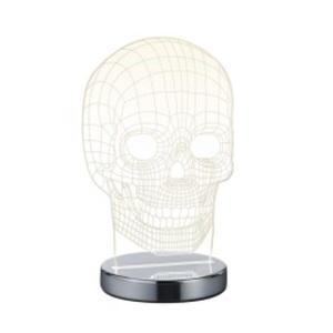 RL LED Tischlampe SKULL 21 cm Acrylglas mit Lichtfarbverstellung