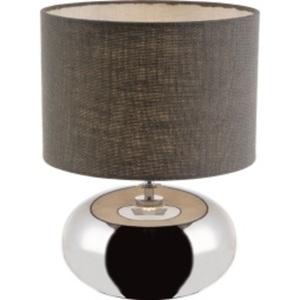 NINO Retrofit Tischlampe H 42 ZOE Keramik Chromfarbig/Grau