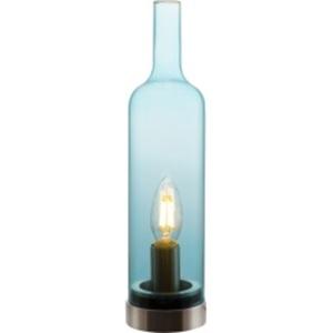 NINO Retrofit Tischlampe BOTTLE blau