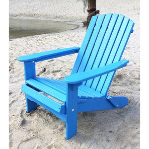 Strandstuhl Holz Blau Gartenstuhl klappbar Adirondack Deckchair - Dandibo