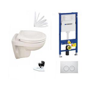 Geberit Vorwandelement + Ideal Standard Eurovit WC + Delta21 + WC-Sitz