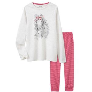Mädchen Schlafanzug mit Pferde-Motiv